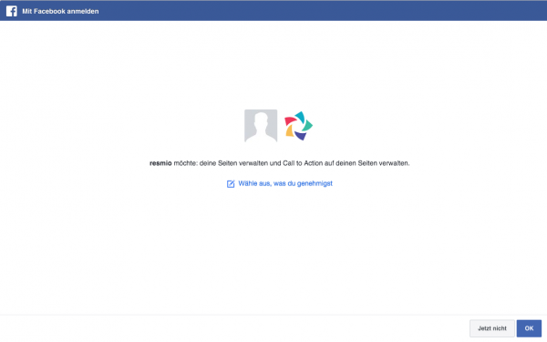 4. resmio integration facebook confirmation