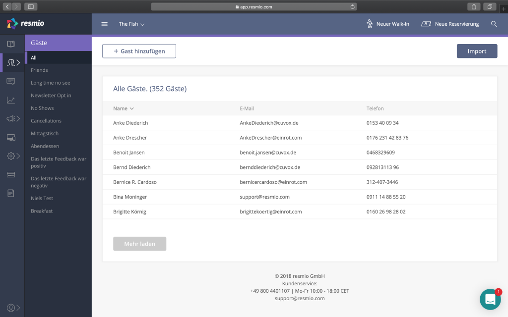 screenshot web app guest database crm