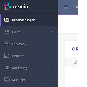 resmio menu reservations