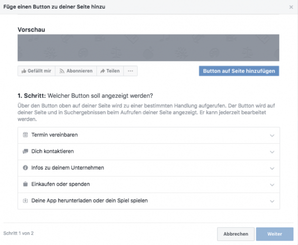 booking button integration facebook 2