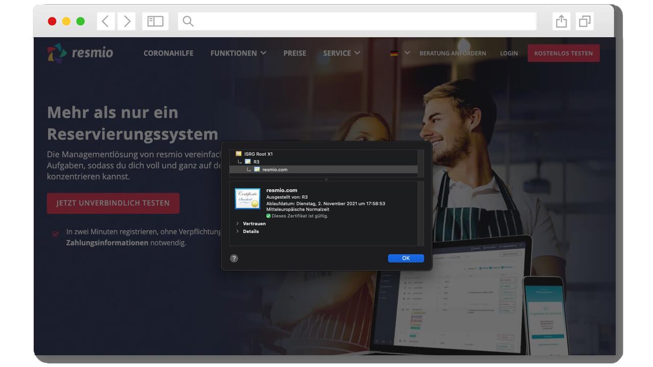 SSL-Zertifikatsdetails