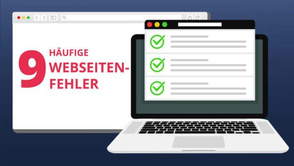 Webseiten Fehler vermeiden