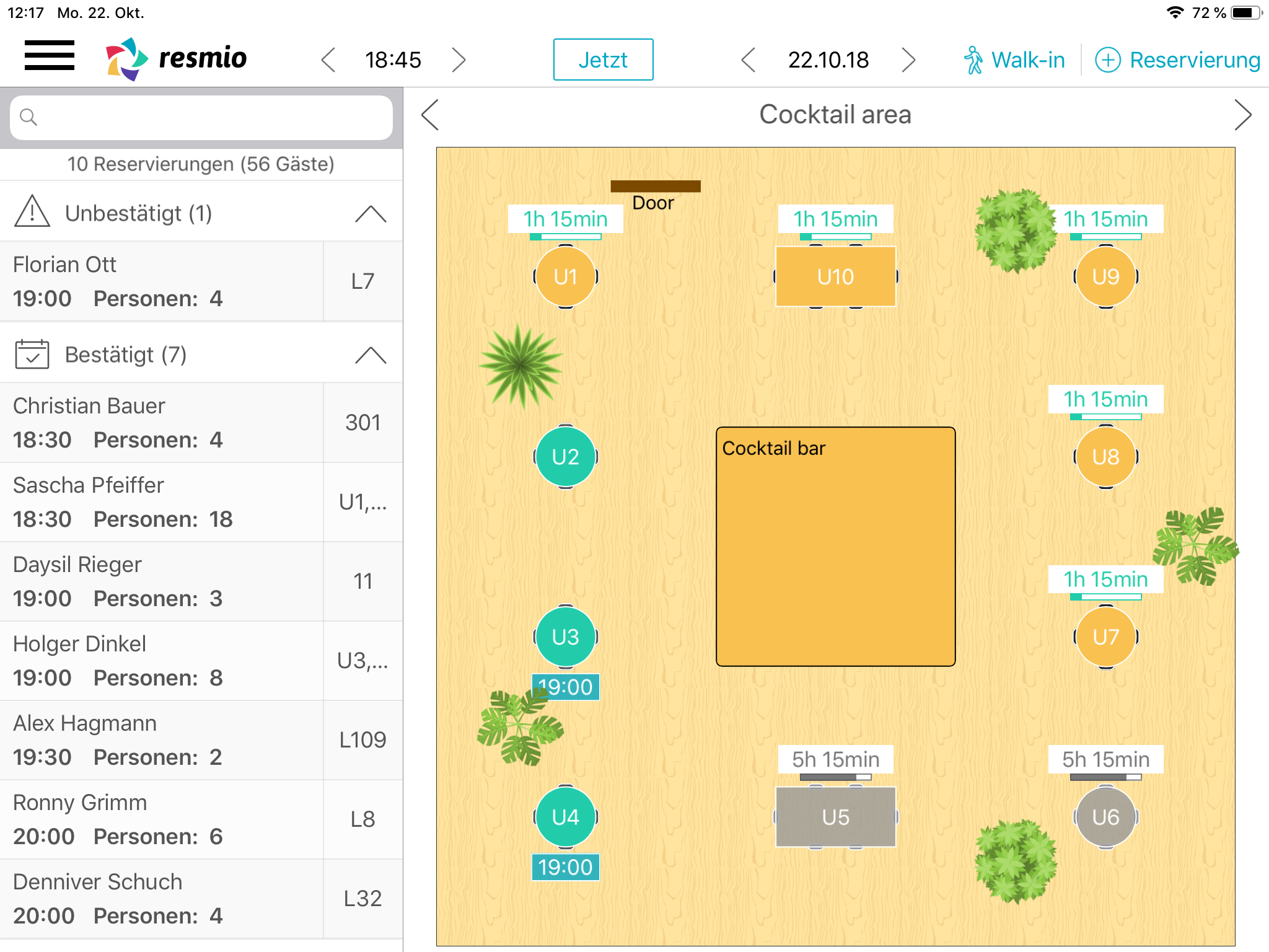 6. resmio for ipad table planner