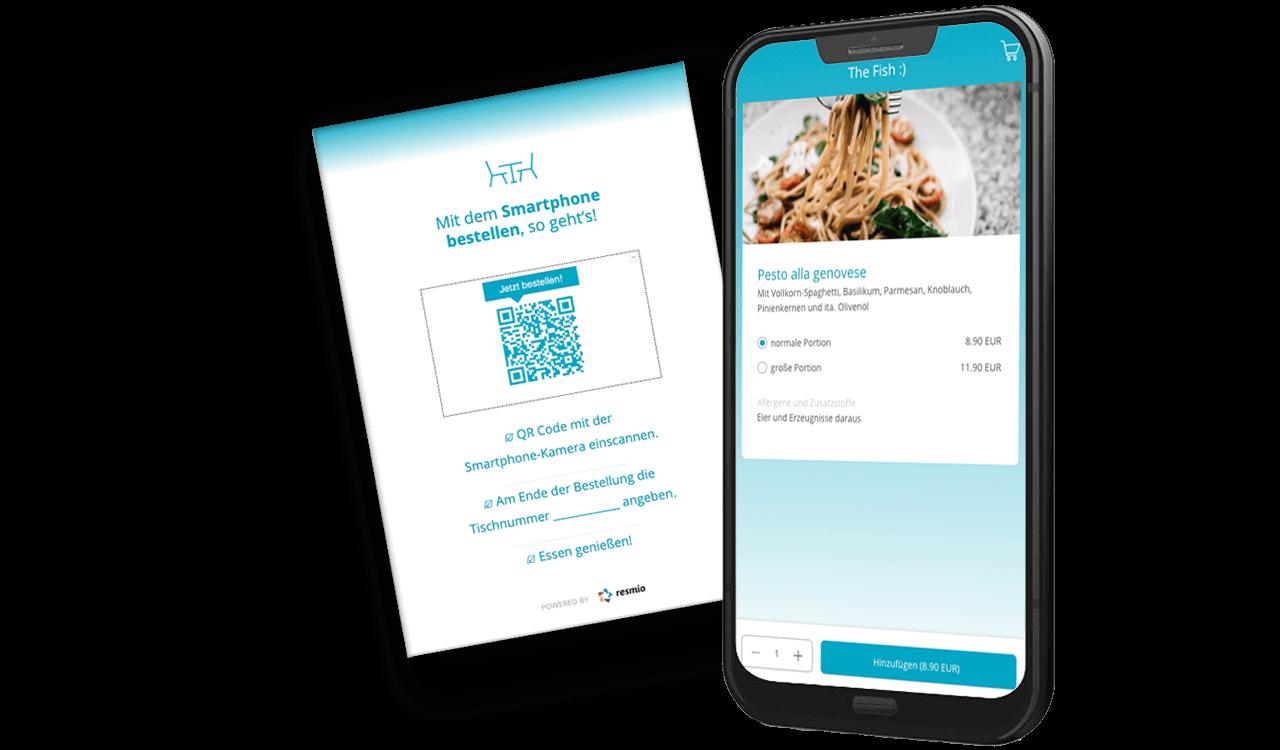 Kontaktlose digitale Speisekarte von resmio