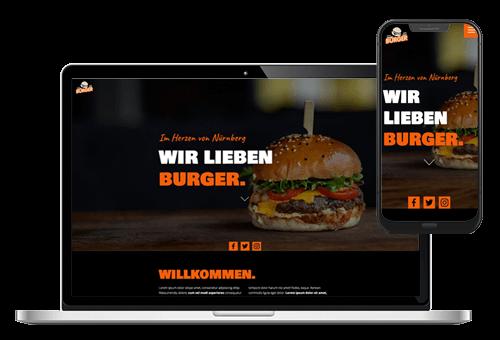 Vorschau resmio Burger Website