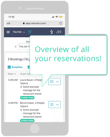 Overview of reservations