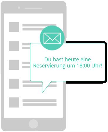 Reservierungsbenachrichtigung via email