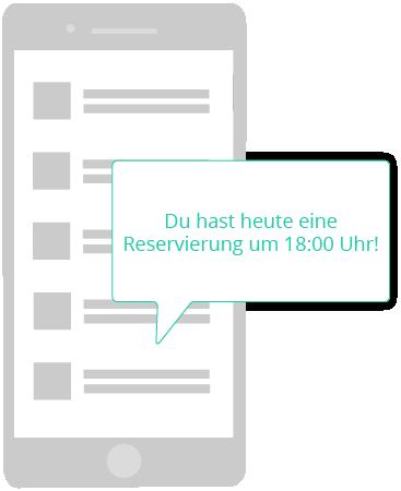Reservierungsbenachrichtung per SMS