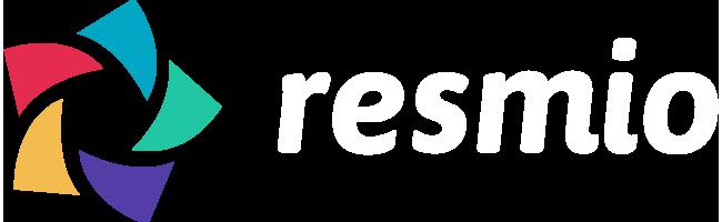 Wartungsmodus | Logo resmio weiss transparenter hintergrund