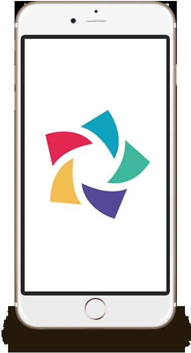 resmio Logo in Smartphone