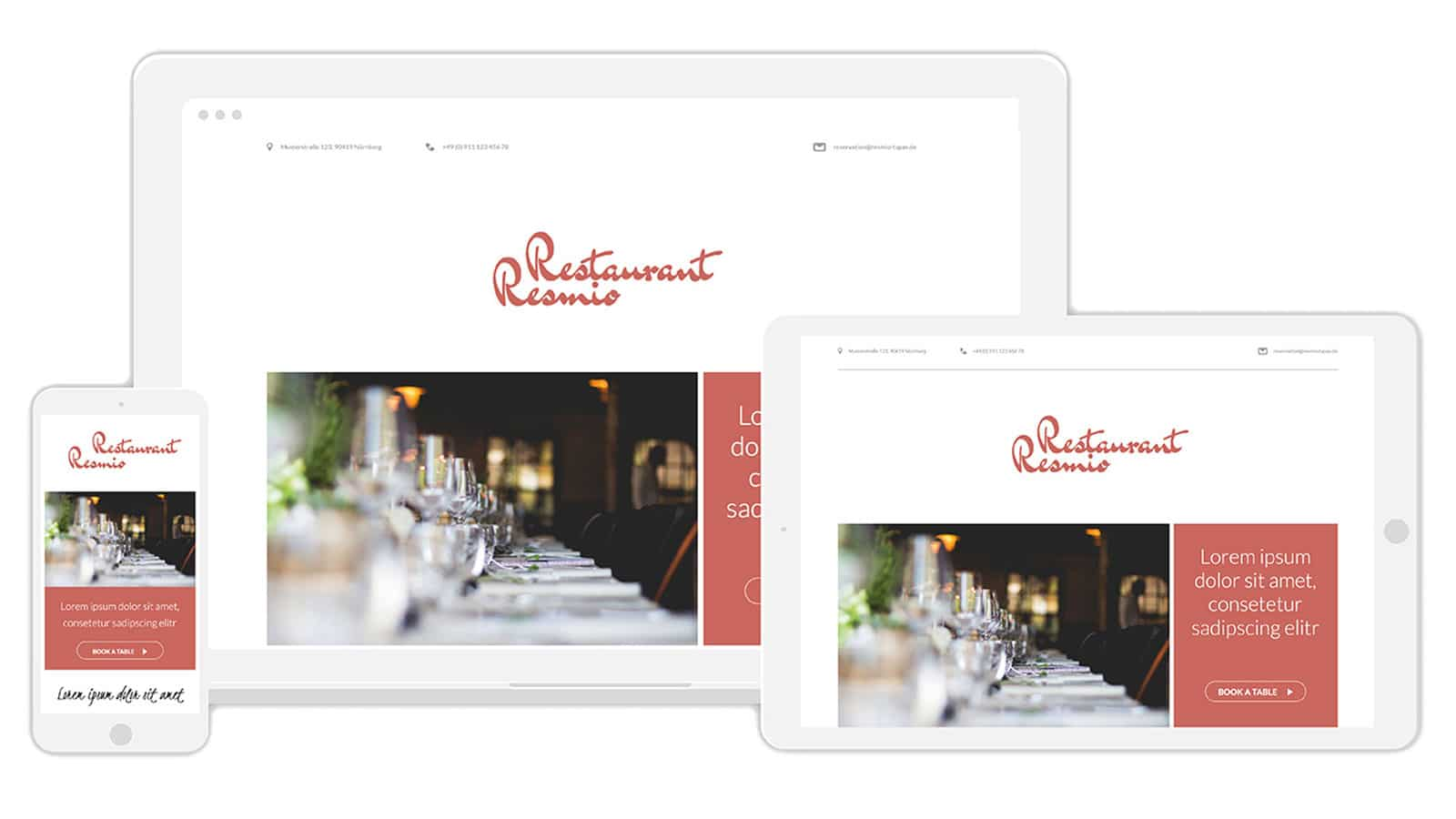 resmio free responsive website for restaurateurs
