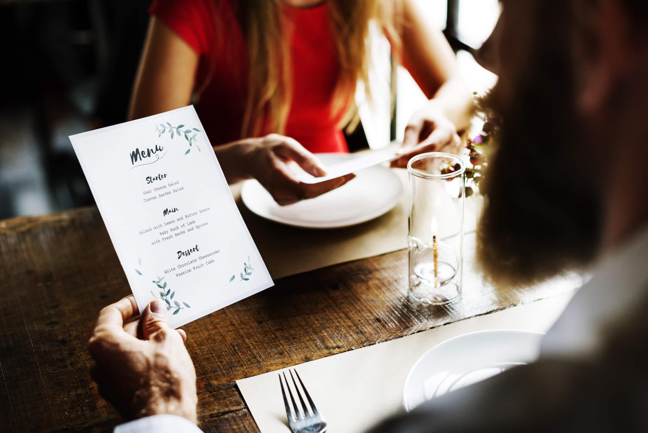 Speisekarte Gastronomie erstellen