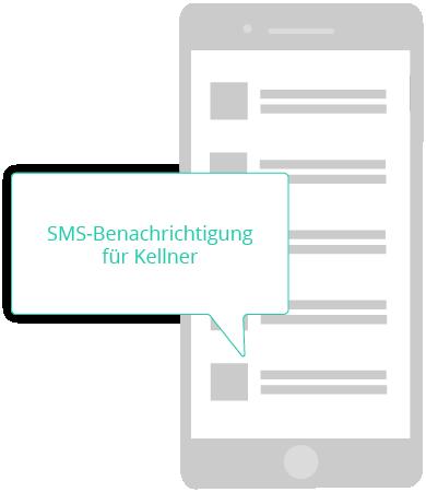 SMS Benachrichtung für Kellner